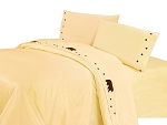 Luxurious Rustic Bedding Western Cream Bear Sheet Set