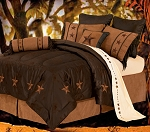 Laredo Luxurious Western Chocolate Comforter Bedding Set