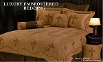 Crosses Luxurious Western Dark Tan Comforter Bedding Set