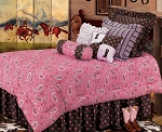 Pink Paisley Luxurious Western Comforter Bedding Set
