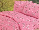 Luxurious Rustic Bedding Western Pink Paisley Sheet Set