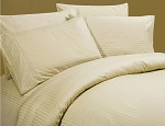 Luxurious Sateen 100% Cotton Beige Bedding Sheet Set