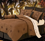 Laredo Luxurious Western Tan Comforter Bedding Set