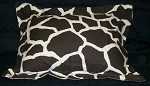 Giraffe Print Bedding Full Size Pillow Sham with Flange