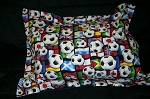 Soccer Bedding Full Size Pillow Sham with Flange