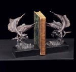 Bronzed Swordfish Bookends - Set of Two