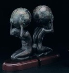 Atlas Bronzed Brass Bookends - Set of Two