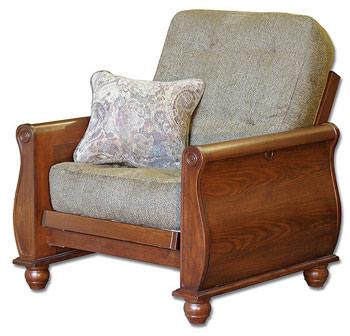 bordeaux sleeper chair with genovese tdc mattress - Sleeper Chair