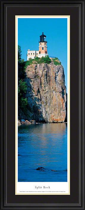 Split Rock Lighthouse Deluxe Framed Skyline Picture 1