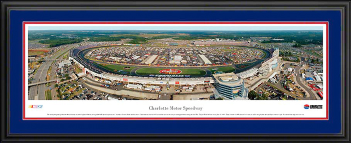 Charlotte motor speedway deluxe framed picture for Charlotte motor speedway phone number