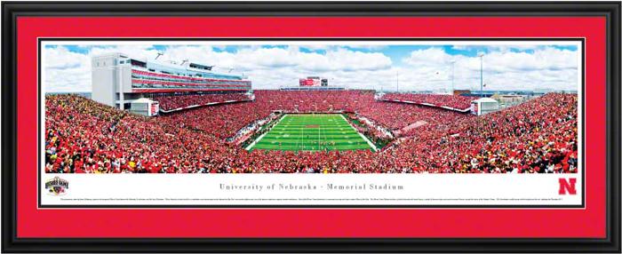 University Of Nebraska Memorial Stadium Deluxe Framed