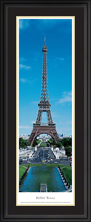 Eiffel Tower Paris France Deluxe Framed Skyline Picture 3