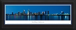 San Diego,California Deluxe Framed Skyline Picture 3