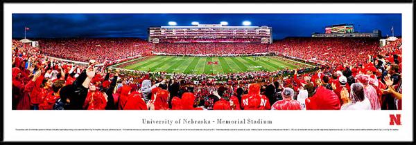 University Of Nebraska Memorial Stadium Framed Stadium Picture