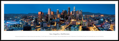 Los Angeles, California Framed Skyline Picture 4