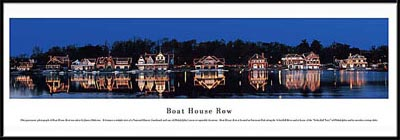 Philadelphia, Pennsylvania, Boat House Row Framed Skyline Picture 2