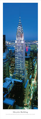 New York, New York Chrysler Building (Twilight) Panoramic Picture