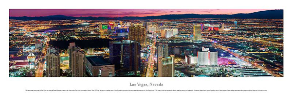 Las Vegas Nevada Panoramic Picture 6 Large Size 13 1 2