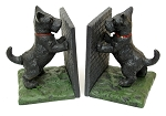 Cast Iron Hand Painted Standing Scottie Dog Bookends Set