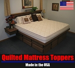 Split Queen Natural Latex Mattress Topper