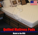 King Waterbed Natural Wool Mattress Pad