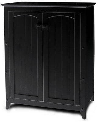 Kitchen gt; Storage Cabinets gt; Double Door Kitchen Black Storage Cabinet