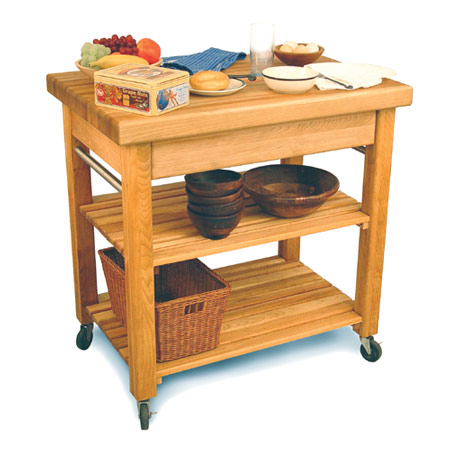 French Country Butcher Block Kitchen Island