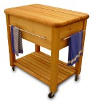 Grand Butcher Block Kitchen Island Cart