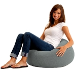 Classic Bean Bag Comfort Suede Steel Grey