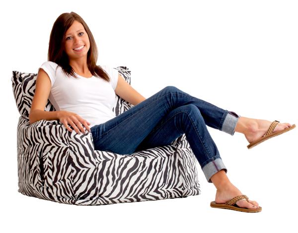 Zebra Bean Bag Chair
