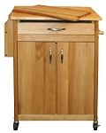 The Cook's Butcher Block Kitchen Island Cart