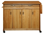 Original Super Butcher Block Kitchen Island with Drop Leaf