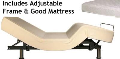 Queen Adjustable Bed AND Largo Adjustable Bed Mattress