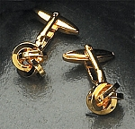 Gold Color Cufflinks with Knots T.P.