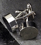Rodium Plated Cufflinks with Circle Shape T.P.