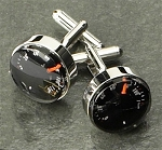 Rodium Plated Cufflinks with Thermometer T.P.