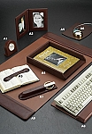 Genuine Tan Leather Desk Set