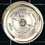 Brass Interchangeable German Barometer With Gold Tone Dial Face T.P.