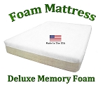 "Deluxe Twin Foam Mattress Memory Foam 10"" Total Thickness"