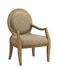 Emerson Transitional Hand-Carved Accent Chair with Oval Back