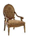 Clark Oversized Oval Back Accent Chair