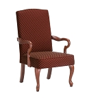 Derby Goose Neck Arm Accent Chair in Red Color