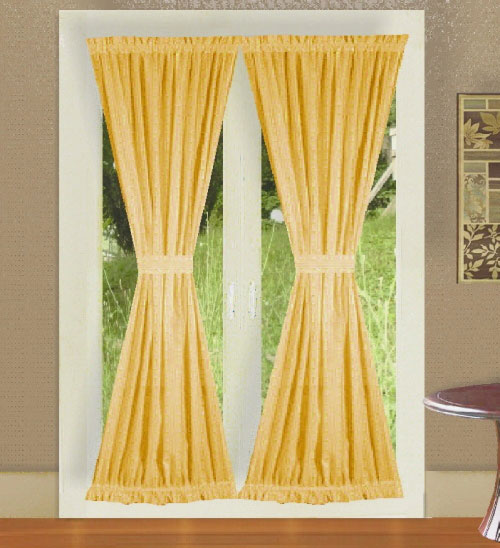 gold color french door curtains