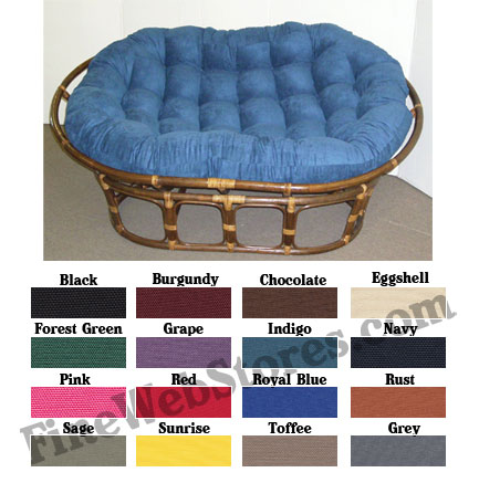 Double Papasan Solid Color Replacement Cushion