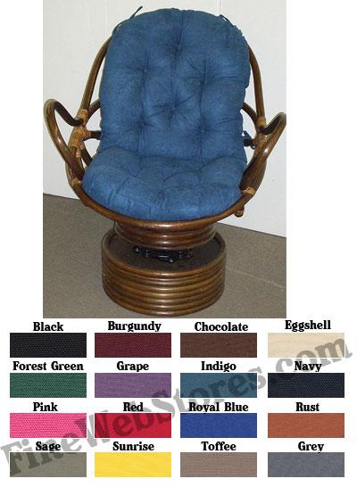 Papasan Swivel Rocker Cushions Duck Fabric