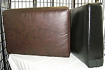 Rectangular Sofa Cushion COVER ONLY, Bonded Leather