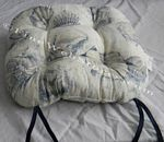 Blue Shell Beach Decor Chair Cushion