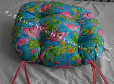 Flamingo Beach Decor Chair Cushion