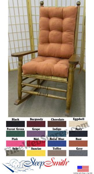 Kennedy Style Rocking Chair Solid Cushion Set JFK Style Rocker Cushions