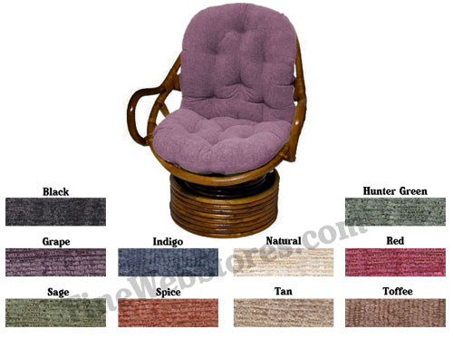 Swivel Rocker Papasan Chenille Fabric Replacement Cushion
